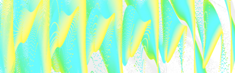 Screenshot of the application brokenWave showing abstract image.