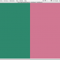 Screenshot of colorSpace 4: green and pink.